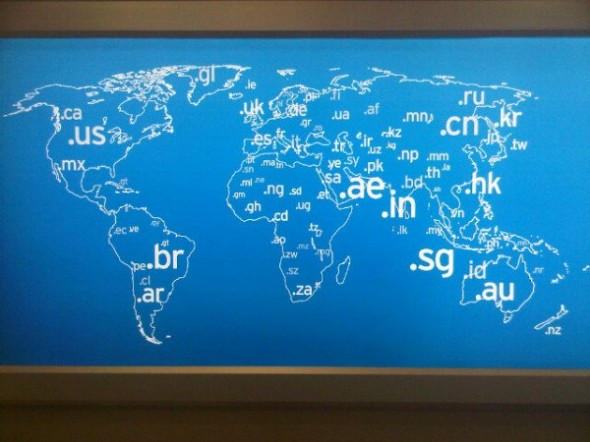 Giant World Map of Country-Code Top-Level-Domains ccTLD spotted in DXB Terminal 3 - twitpic-com-52uw2u