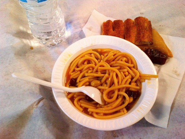 002 - Ummah Nabawiah Masjid - Iftar Noodle Soup Spicy - Sunday June 21 2015