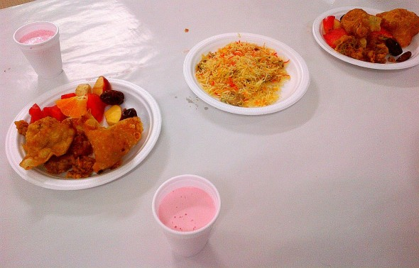 003 - Jaame Masjid Scarborough - Central Mosque Scarborough - Iftar Plates and Rooh Afza - Sunday June 22 2015