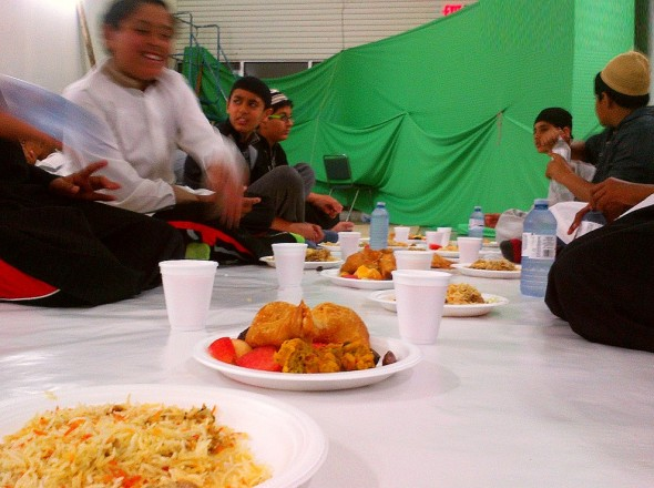 004 - Jaame Masjid Scarborough - Central Mosque Scarborough - Iftar Plates and Rooh Afza - Sunday June 22 2015