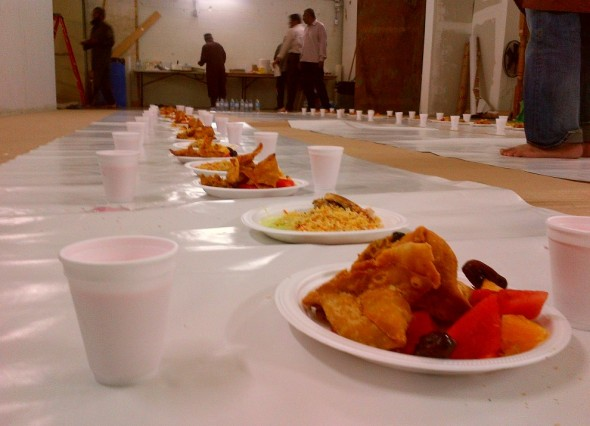 005 - Jaame Masjid Scarborough - Central Mosque Scarborough - Iftar Plates and Rooh Afza - Sunday June 22 2015