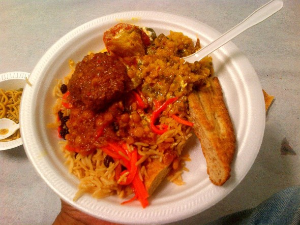 006 - Ummah Nabawiah Masjid - Iftar Dinner Plate - Sunday June 21 2015