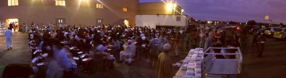 017 - IIT - Islamic Institute of Toronto - Ramdan Lecture & Iftar Program - Iftar Dinner - Parking Lot - Saturday June 20 2015