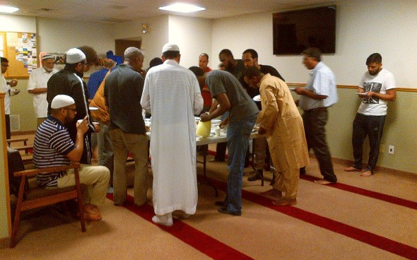 Bosnian Islamic Centre - Iftar Table - Breaking the Fast - June 18 2015