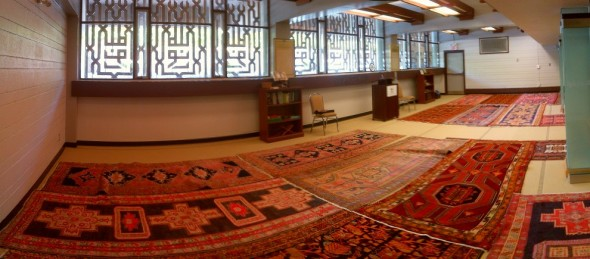 Noor Cultural Centre - Prayer Hall panoramic - 123 Wynford Drive, Don Mills - Friday Jumah June 19 2015