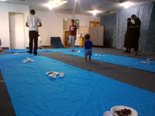 Quraan and Hadeeth Society Canada - Iftar inside Prayer Hall - June 19 2015