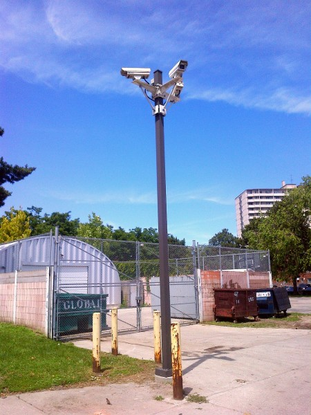 Regent Park Security Camera Utility Pole