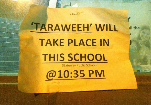 005 - Taraweeh - Gateway Boulevard Public School - Flemingdon Park - July 8 2015