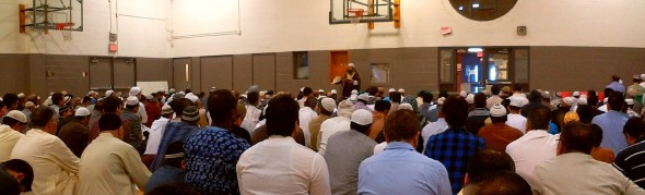 010 - Eid Al Fitr Prayer - Gymnasium - Dennis R Trimbell Resource Centre in Flemingdon Park - 29 St Dennis Drive - Saturday July 18 2015