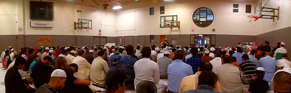 020 - Eid Al Fitr Prayer - Gymnasium - Dennis R Trimbell Resource Centre in Flemingdon Park - 29 St Dennis Drive - Saturday July 18 2015