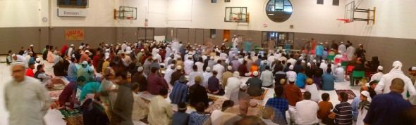 030 - Eid Al Fitr Prayer - Gymnasium - Dennis R Trimbell Resource Centre in Flemingdon Park - 29 St Dennis Drive - Saturday July 18 2015