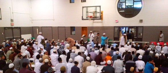 035 - Eid Al Fitr Prayer - Gymnasium - Dennis R Trimbell Resource Centre in Flemingdon Park - 29 St Dennis Drive - Saturday July 18 2015