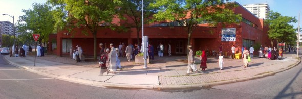 050 - Eid Al Fitr Prayer - Gymnasium - Dennis R Trimbell Resource Centre in Flemingdon Park - 29 St Dennis Drive - Saturday July 18 2015
