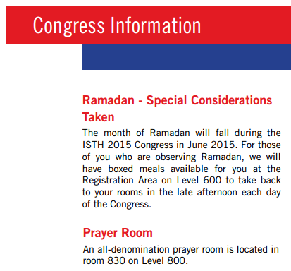 Congress-info - Special Considerations Taken