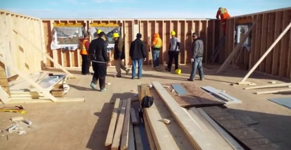 Iqaluit Masjid being built