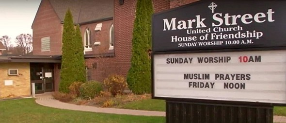 Mark Street United Church - Muslim Prayers Friday Noon - Peterborough - November 20 2015