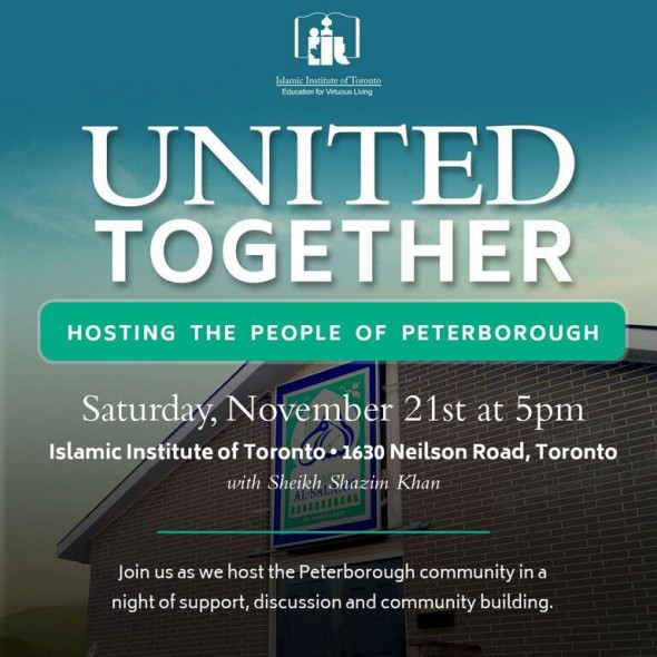 United Together - Hosting the People of Peterborough - Islamic Institute of Toronto - Saturday November 21 2015
