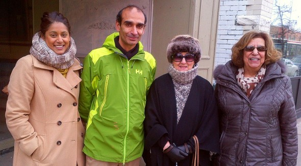 LEFT TO RIGHT: Denise Pinto (Global Director Jane's Walk), HiMY SYeD (Walk Leader), Eileen Alije Kerim, Mary