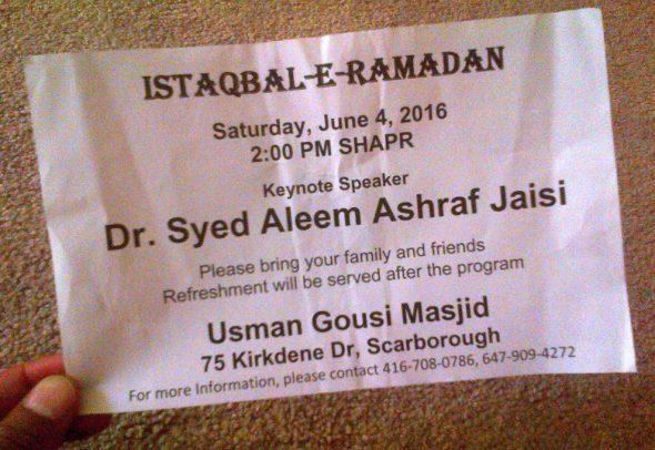 05 - JUMAH  Friday Prayer before Ramadan Starts - Usman Gousi Mosque - 75 Kirkdene Road, Port Union Village - Scarborough, Ontario
