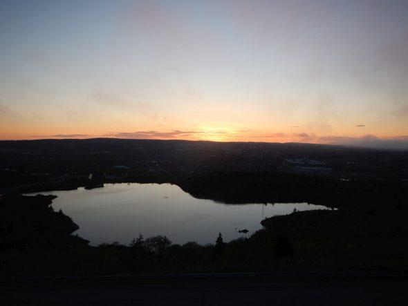 Sun has just set - From Signal Hill, St. John's Newfoundland, Sunday June 5 2016